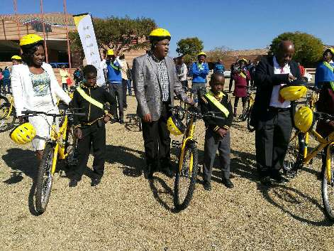 Pupils get bicycles from govt