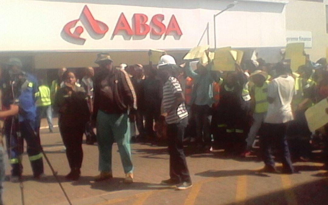 Residents march against closure of Gupta accounts