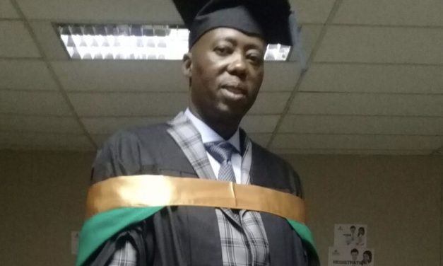 Collen Sedibe graduates with a Masters degree