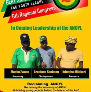 Gracious Shabangu gets ready to contest as Gert Sibande ANCYL chair