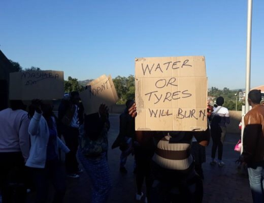 "Residents demand water or ""else tyres will burn"""