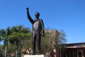 "Mandela still standing tall - but is ""fixed"" now"