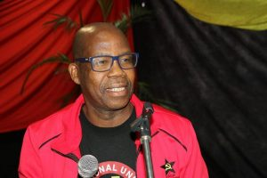 NUM leader Joseph Montisetse is reported to mingle with the Motsepes