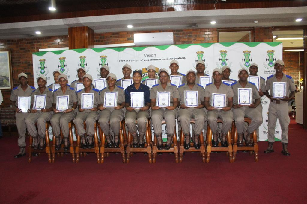 Traffic officers graduate from a training programme