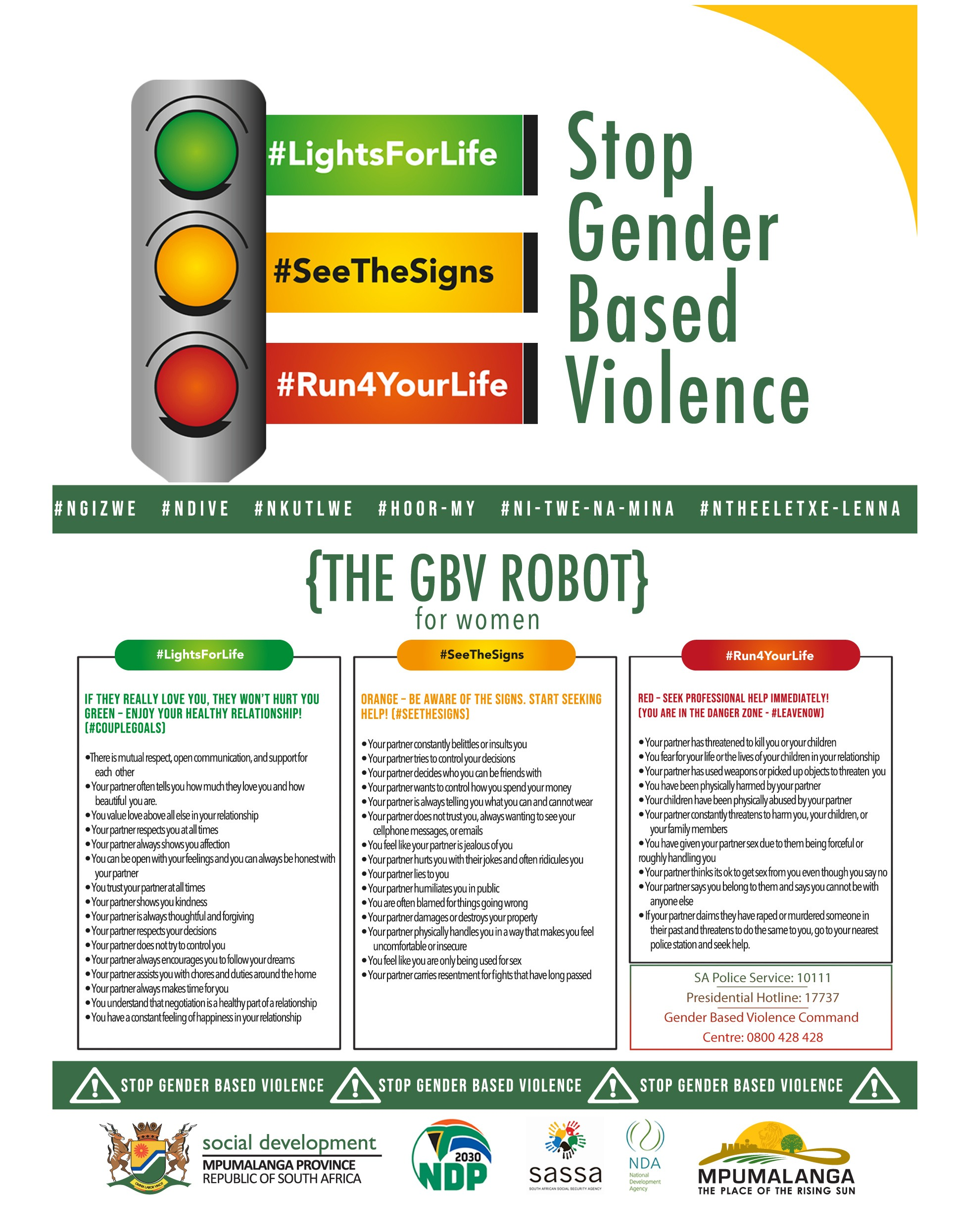 Social Development campaign against gender based violence