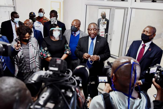 Ramaphosa commends Tsipane's response to Covid-19
