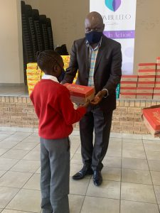 Mpumalanga legislature chief whip adopts school during shoe donation drive
